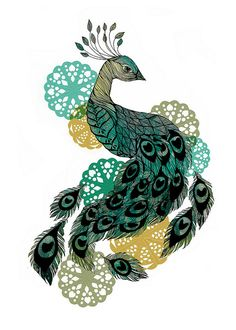 peacock small by Sofie Rolfsdotter
