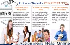 Live Web Experts are services available #Assignment_help_online,which take initiative in providing #Homework_assignment_help,and any type of #Academic_assignment.  Visit Here  http://www.livewebexperts.com/Assignment-Help