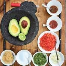 Ingredients for guacamole  made tableside at The Mission
