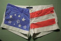 American Eagle Hand Painted American Flag Shorts 3417 Womens Size 31 | eBay