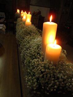 balaustra con candele
