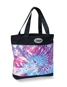 Danshuz Girls Pink Geena Gymnast Colorful Screen-prints Zippered Duffel Bag