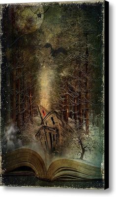 Surrealism Art - Night Story by Svetlana Sewell Fantasy World, Fantasy Art, And So It Begins, World Of Books, Magic Book, Canvas Prints, Art Prints, Lectures, Oeuvre D'art
