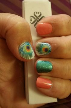 Jamberry...Shake Your Tail Feather, Jaded, Grapefruit.  brittanykw.jamberry.com
