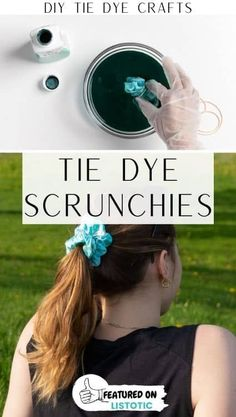 These tie dye scrunchies are so cute, and so easy to make! Click on the pin to see this and more easy DIY tie dye crafts featured over on Listotic. Easy Diy Crafts, Diy Craft Projects, Crafts To Make, Fun Crafts, Craft Ideas, Assisted Living Activities, Nursing Home Activities, Fun Activities, Tie Dye Shoes