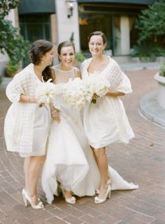 White bridesmaids dresses | photography by http://www.buffydekmar.com/