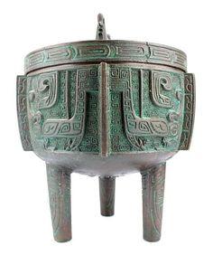 Large Chinese Bronze Urn