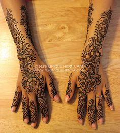 Sarah K's bridal henna 2013 © NJ's Unique Henna Art