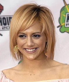 This was funky 'do for Brittany, who looked fabulous her chin length bob and eye-catching color.