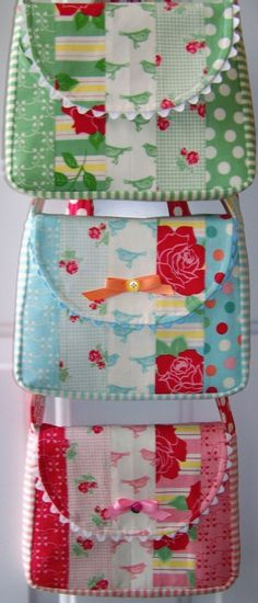 PDF Pattern - Easy Jellyroll Grab 'n Go Bag - darling details!