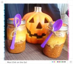 Dinner on the Go! Mexi cornbread and chili in a jar! Genius! No tricks just a dinner treat!