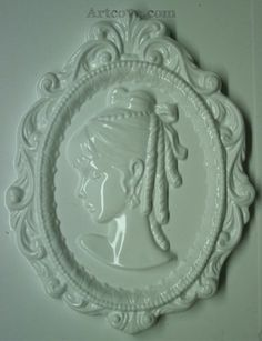Cameo Head Plaster Mold 5 x 6-1/2 Inch. Mix plaster of paris with water and pour into mold. Let the plaster harden. Now paint your finished mold with acrylic paints.