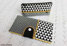 ensemble noir et blanc géométrique