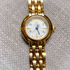 Vintage Guess Stamped 1996 Gold Tone Link Watch