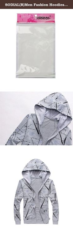 SODIAL(R)Men Fashion Hoodies Zipper Printed Slim Pullover Sportswear Sweatshirt Gray M. * SODIAL is a registered trademark. ONLY Authorized seller of SODIAL can sell under SODIAL listings.Our products will enhance your experience to unparalleled inspiration. SODIAL(R)Men Fashion Hoodies Zipper Printed Slim Pullover Sportswear Sweatshirt Gray M Product Description Color: Gray Size(cm): M--Shoulder:44--Chest:98--Length:64--Sleeve:62 Collar:Turtleneck Sleeve Length:Full Pattern…