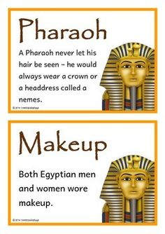 A set of 24 A5 fact cards that give fun and interesting facts about ancient Egypt. Teachers also have the option to use this set as a vocabulary word wall as each fact card has a keyword heading related to the fact and topic. Great for ancient history!
