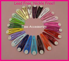 """Find More Hair Accessories Information about 50PCS 5.0cm 2.0""""  Assorted Colors Round Head Plain Metal Snap Hair Clips with pads at nickle free and lead free,BARGAIN for BULK,High Quality metal snap hair clips,China snap hair clips Suppliers, Cheap hair clip from Accessories for Luxury Hair Jewelry--Susan' store on Aliexpress.com"""