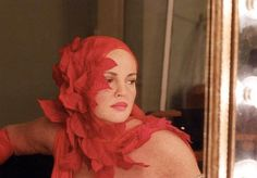 Drew Barrymore wearing a fabulous headpiece in the Grey Gardens remake.