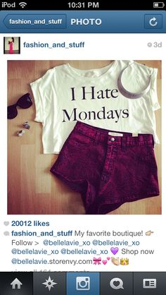 I want this shirt but not the shorts!