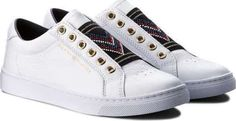 Tommy Hilfiger Elastic Studded Chevron FW0FW035... High Tops, Tommy Hilfiger, Chevron, High Top Sneakers, Shoes, Fashion, Moda, Zapatos, Shoes Outlet