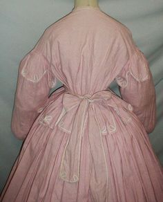 All The Pretty Dresses: Mid 1860's Pink Cotton Dress