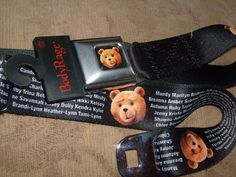 BAD BEAR TED MANDY MARILYN SEATBELT STYLE ADJUSTABLE ADULT OSFM BELT NEW SPENCER #BuckleDown #seatbelt