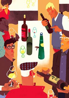 I was comissioned by WLM Publishing House to create a poster campaign for London Wine Fair 2015. Eight illustrations were printed in A1 format and placed in the space of the Fair. Some of them were used for brochures and web site as well. Thanks AD Isla…