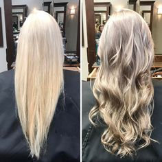 First picture was after we did a global lightening application ��. Second picture was after we used Guy Tang silver metallic color for a shiney-silvery finish ���� @innovations_salonandspa #ombre #blonde #silverhair #guytang #blacksburg #virginiatech #salon #cosmoprof #balayage #cosmetology http://tipsrazzi.com/ipost/1507710383362725201/?code=BTsdpsAgNVR