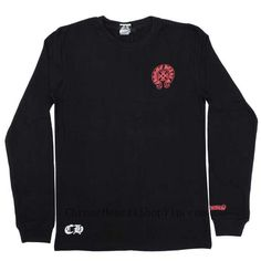 Black Chrome Hearts Big Red Horseshoe CH Print T Shirt Black T shirt from chrome hearts. Big Red horseshoe CH logo print on the back. This soft cotton jersey tee has a sporty crewneck and red horseshoe printed on chest and big red horseshoe & CH plus printed on back. you can buy from here:http://www.chromeheartsshopvip.com/chrome-hearts-black-tshirt-with-horseshoe-ch-print-wholesale-shop-p-659.html#