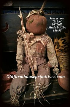 "Primitive Scare Crow ""Brice"" (Made In USA)"
