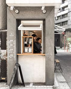Japanese Coffee Shop, French Coffee Shop, Small Coffee Shop, Cafe Shop Design, Small Cafe Design, Container Coffee Shop, Mini Cafe, Coffee Cafe, Coffee Shops