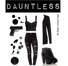 Divergent inspired outfit - DAUNTLESS