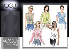 Vogue Patterns 7876 from Vogue Patterns patterns is a MISSES' TOP sewing pattern