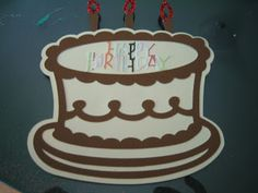 Accountant By Day: 2 cards this weekend: Happy Birthday Cake card made with Cricut