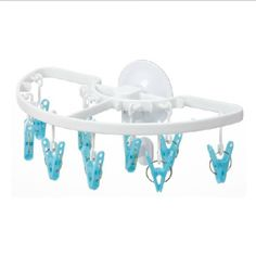 Suction cup mini child plastic clothes hanging derlook underwear drying rack