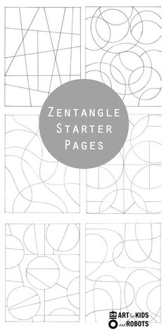 Zentangle starter pages and zentangle patterns