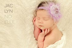 Lavender Feather and Flower Newborn Headband - Newborn Baby Girl Shabby Flower Marabou Puff Headband - Baby Purple Hair Bow Photo Prop on Etsy, $6.41 CAD