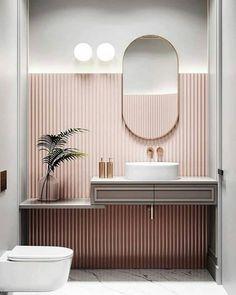 Interior Home Design Trends For 2020 - New ideas Modern Bathroom Decor, Bathroom Interior Design, Small Bathroom, Bathroom Ideas, Bathroom Makeovers, Remodel Bathroom, Parisian Bathroom, Bathroom Tubs, Concrete Bathroom