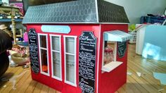 American Girl Doll Play: Creating a French Bakery of Our Own Made from foam core board