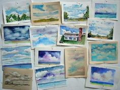 In and Out of The Studio: small watercolors