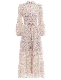 The Honour High Neck Dress in Cream Floral from our Summer Swim 2019 Collection. An embroidered textured cotton voile maxi dress with full A-line skirt for volume and movement. cotton, maxi dress with full a-line skirt, round neckline, blouson sleeves wit Classy Outfits, Chic Outfits, Fashion Outfits, Womens Fashion, Pretty Dresses, Beautiful Dresses, Dress Up, High Neck Dress, Sr1