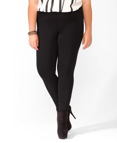 Stretchy Skinny Pants | FOREVER21 PLUS - 2015616555