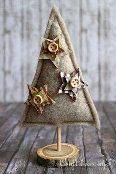 Felt Christmas Tree. Add Eleanor's yoyos instead of the stars