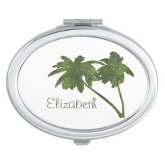 Personalize this compact mirror full of lush, fresh tropical color. Perfect to carry to the pool, beach or gym.