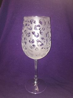 Cheetah Print Etched Wine Glass - Cheetah Design by ItsWineTimeDesigns on Etsy https://www.etsy.com/listing/237780933/cheetah-print-etched-wine-glass-cheetah