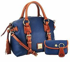 Dooney & Bourke Pebble Leather Domed Satchel w/Accessories