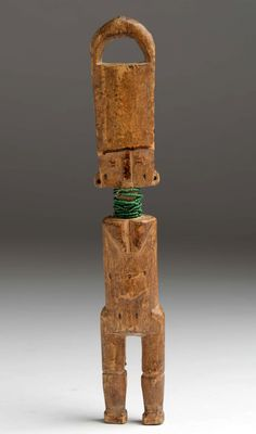 Africa | Doll from the Fanti people of Ghana | Wood and glass beads