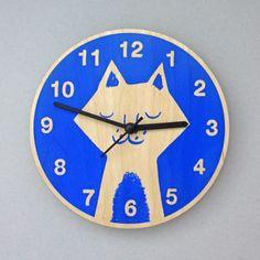 Cat Clock #clock #animalclock #nursery