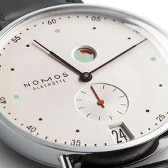 Metro Datum Gangreserve Watch 6 Retro Minimal Horology: the Nomos Metro Watch Dream Watches, Luxury Watches, Cool Watches, Watches For Men, Modern Watches, Stylish Watches, Beautiful Watches, Mechanical Watch, Watch Brands