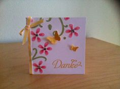 Kleine Dankeskarte, gemacht mit Stampin Up'  Produkten Little clean and simple thank you card made with Stampin Up' products